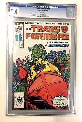 **marvel More Than Meets The Eyes Transformers 29 Cgc Graded 9.4***