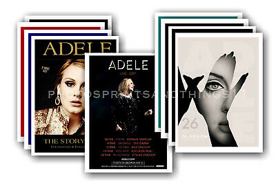 ADELE  - 10 promotional posters - collectable postcard set # 4