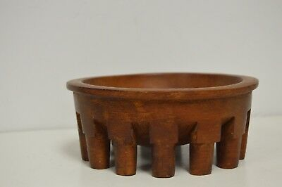 Vintage Hand Crafted Ceremonial Kava Wood Bowl with 13 Legs