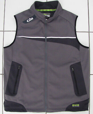 """GILL Softshell Weste Softschellweste """"Race Collection"""" Gr XL - Graphit VP 129,95"""