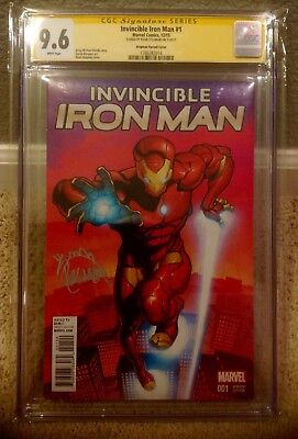 CGC SS 9.6 Invincible Iron Man #1 VARIANT Signed By Ryan Stegman