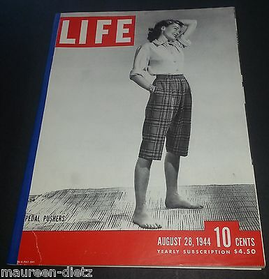 August 28, 1944 LIFE Magazine Old ads Graphics advertising FREE SHIPPING Aug 8