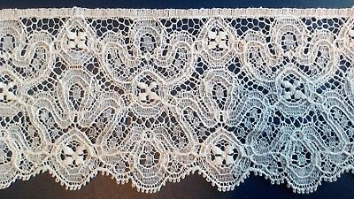 Made In England Cluny Cotton Lace Edging Pretty Dolls Dresses Lingerie Crafting