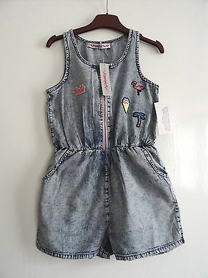 Girls Kids Pretty Freespirit Summer Playsuit Jumpsuit Age 7 Years Yrs 122 New
