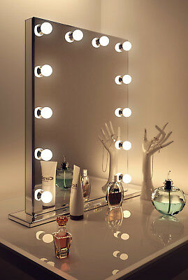 Diamond X Mirror Finish Hollywood Makeup Mirror Dimmable LED k252-E71