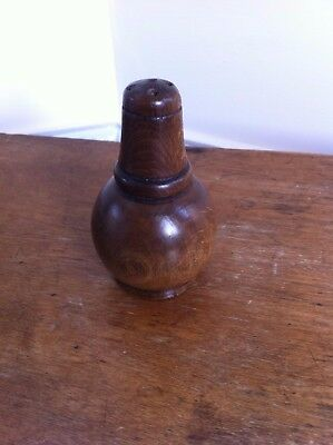 NICE QUALITY DECORATIVE 19th CENTURY WOODEN PEPPER 3.7 inches