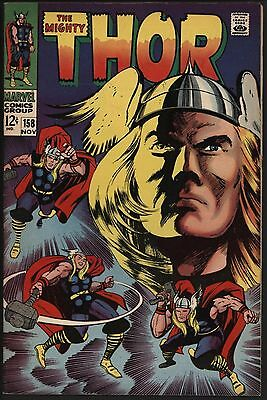 THOR #158 FANTASTIC 9.0 VF/NM GLOSSY COPY WHITE PAGES 1st THOR STORY.....