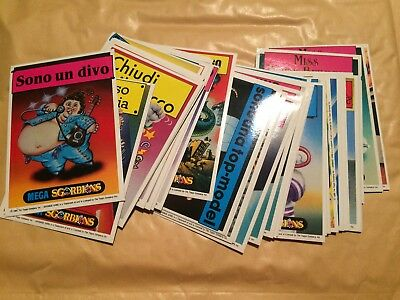 40 MEGA Sgorbions Cards Stickers 2nd Series Garbage Pail Kids