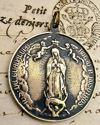 O.L. of Guadalupe Patroness of the Americas Mexico Basilica Antique Bronze Medal