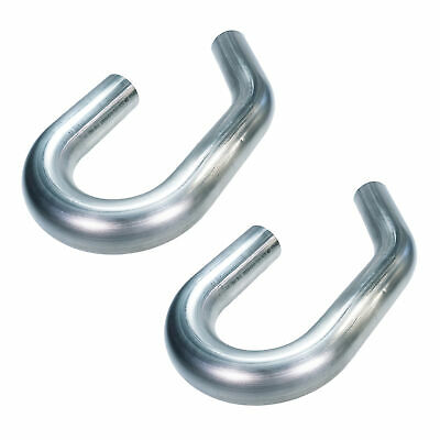 Squirrelly 2.5 304 Stainless Steel Mandrel Bend Pipe 180 + 45 Degree UJ (2 Pack)