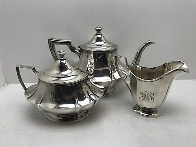 Wallace Sterling Silver Tea/Coffee Cream And Sugar Set BEAUTY!!