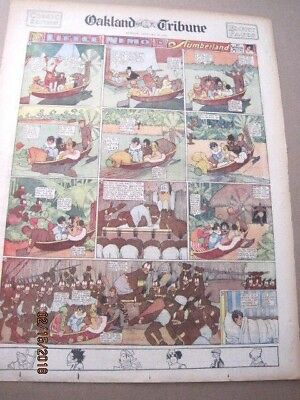 FOUR (4)  LITTLE NEMO SUNDAY COLOR PAGES 1925 & 1926 BY WINSOR McCAY 16X22""