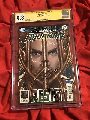Cgc Ss 9.8~Aquaman #30~Signed By Jason Momoa~Justice League~New Movie Coming~