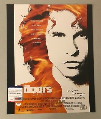 "Val Kilmer "" Jim Morrison "" Signed 16x20 THE DOORS Photo Autograph PSA/DNA COA"