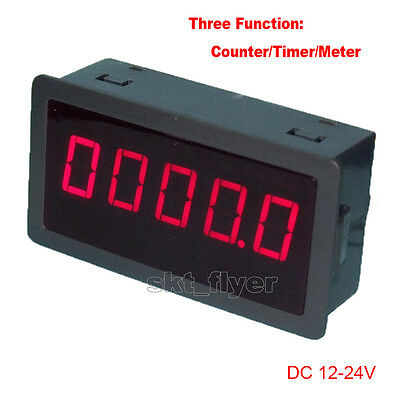 "0.56"" Red LED Digital Counter & Timer & Meter Count  DC 12-24V Car Motor Test"