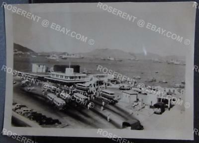1955 Hong Kong /Kowloon -Star Ferry & Bus Station - original Photo 8.5 by 5.5 cm