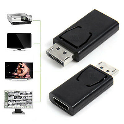 Display Port DP Male To HDMI Female Adapter Swapper Converter For 1080P HDTV Fad