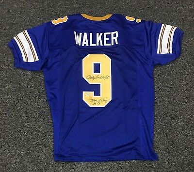 Anthony Michael Hall Signed JOHNNY BE GOOD Walker #9 Jersey XL Beckett BAS COA