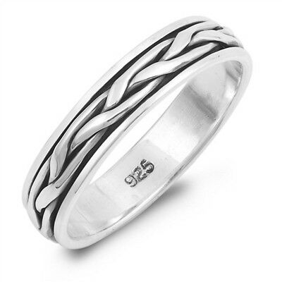 Sterling Silver DAD Ring LARGE SIZE