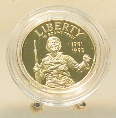 World War 2 50th anniversary $5 Gold Proof Commemorative Coin