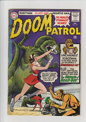 The Doom Patrol #100 (Dec 1965, DC)  G Origin Beast boy