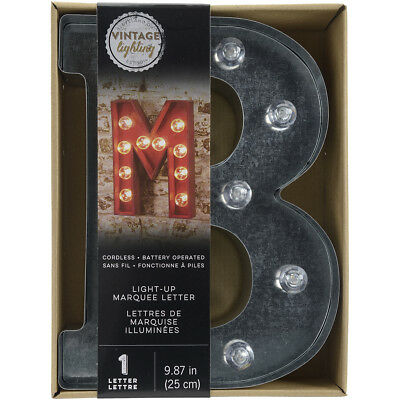 """Silver Metal Marquee Letter 9.875""""-B"""