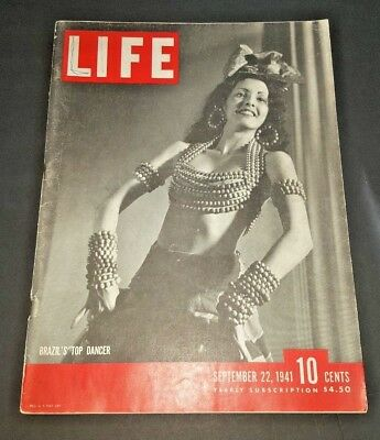 September 22, 1941 LIFE Magazine-WWII COKE Ad FREE SHIPPING Sept 9 41 23 24 25