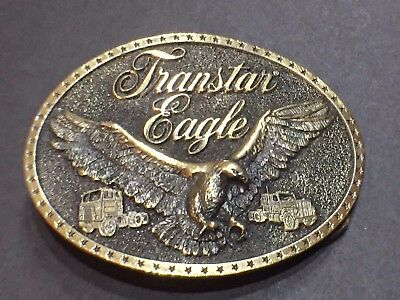 Harvester Transtar Eagle Brass Belt Buckle Solid Brass Collectable Gift