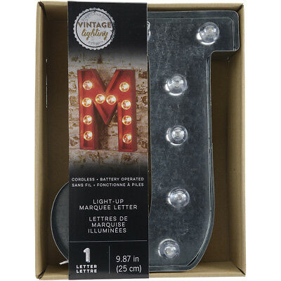 """Silver Metal Marquee Letter 9.875""""-J"""