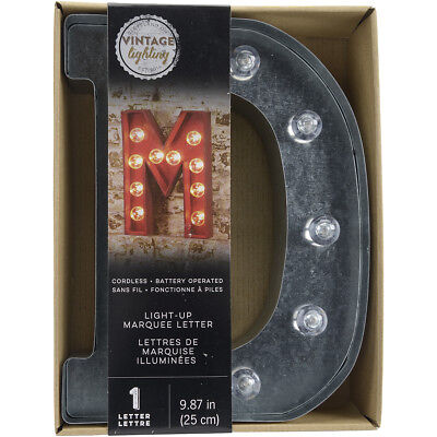 """Silver Metal Marquee Letter 9.875""""-D"""