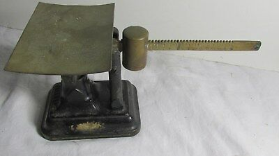 Vintage Fairbanks Cast Iron and Brass Scale Original paint NICE
