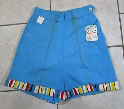 VTG NOS 1950's - 60's WASHINGTON DEE CEE SIDE ZIPPER STRIPED FARM WORK SHORTS 8