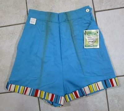 VTG NOS 1950's - 60's WASHINGTON DEE CEE SIDE ZIPPER STRIPED FARM WORK SHORTS 10