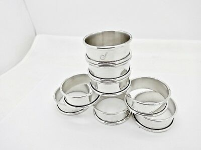 "Matching Set Of 8 Sterling Silver Classic Style 3/4"" Napkin Rings,s"