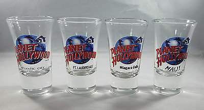 Lot Planet Hollywood Shot Glasses Maui Niagara Falls Atlantic City Ft Lauderdale