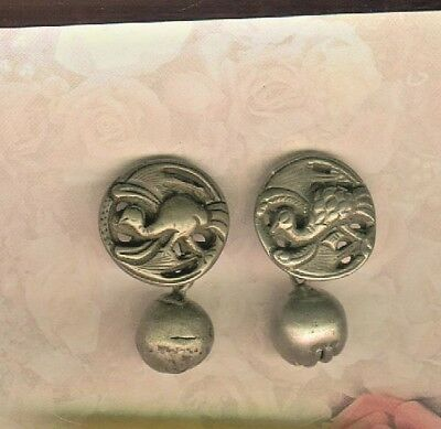 Late Victorian Pair of Chinese Peasant Silver Peacock Cufflinks