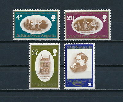 St Kitts & Nevis  223-6 MNH, Charles Dickens, 1970