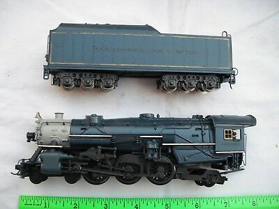 BROKEN AHM Rivarossi 5087, 4-6-2, Painted B&O, Steam Locomotive,HO Scale - AS IS