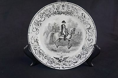 Superb Rare antique French Napoleon-themed plate, marked [Y8-W6-A9]