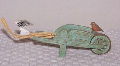 Hallmark Marjolein Bastin Ornament - Wheelbarrow with Bird - New with Tag