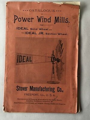 STOVER MANUFACTURING CO. Ideal Wind Mill Catalog Circa 1900 Windmill