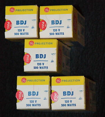 BDJ Projector Bulbs, Total of Five, Spare film projector bulbs, Camera, BH Slide