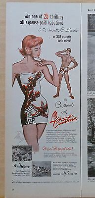 1951 magazine ad for Catalina swimsuits - Carribean Collection contest