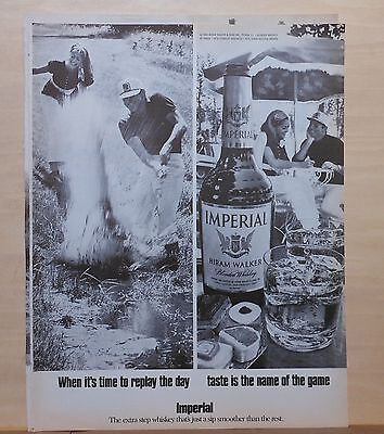 1970 magazine ad for Imperial Whiskey -  Golfers, When it's time to replay day