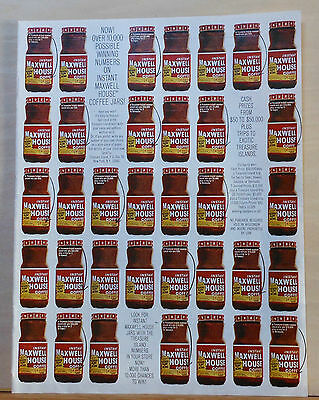 1967 magazine ad for Instant Maxwell House Coffee - multiple jars of coffee