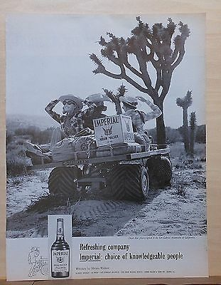 1966 magazine ad for Imperial Whiskey -  Desert Rat in San Gabriel mountains CA