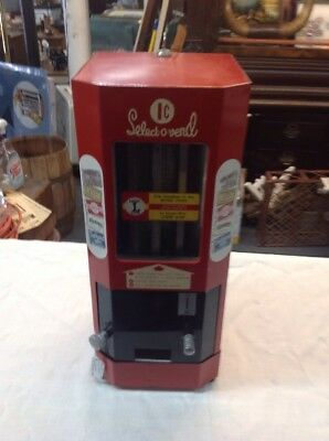 1 Cent Select-o-vend Candy Machine Super Nice Works Perfect