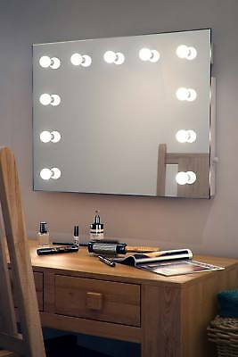 Diamond X Wallmount Hollywood Makeup Mirror with Dimmable LED k95-E73
