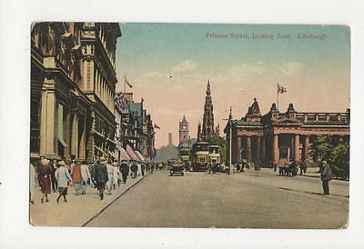 Princes Street Looking East Edinburgh Vintage Postcard 109a