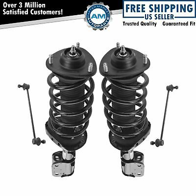 4 Piece Suspension Kit Complete Strut & Spring Assemblies w/ Sway Bar End Links